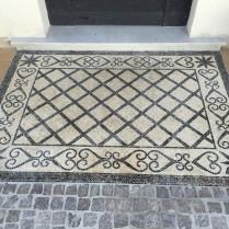 pavement mosaïque de marbre pour Pas-de-porte